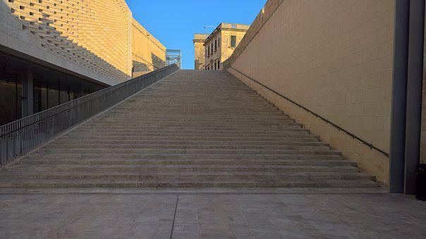 Stairs, Architecture, Gradually, Building, Perspective