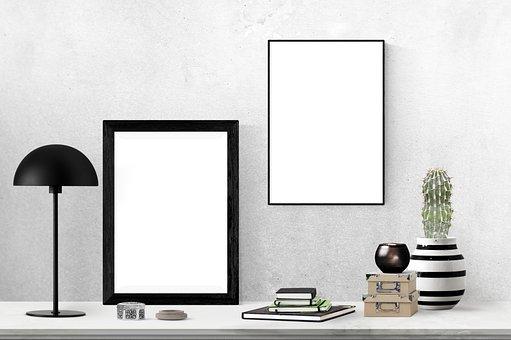 Poster, Frame, Plant, Book, Box, Lamp