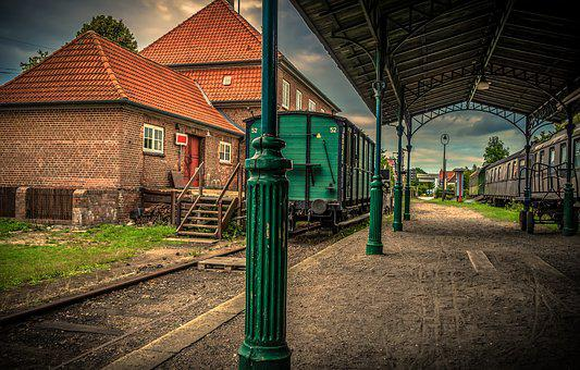 Train, Wagon, Railway Station, Building, Transport