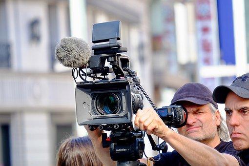 Video Recording, Shooting, Cameramen, City, Street
