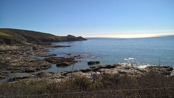 Cornwall, Sea, England, Bay, Scenic, Coastal, Coastline