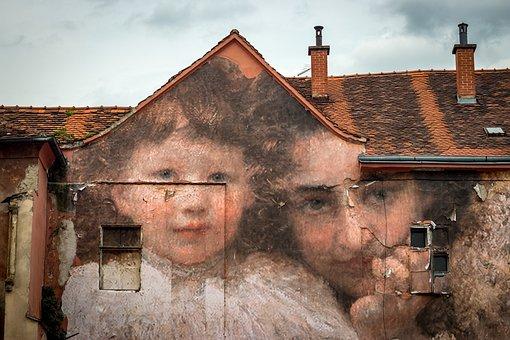 Mural, Painting, Wall, Graffiti, Zagreb, Croatia, Urban