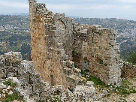 Jordan, Ajloun, Ruin, Castle, Fortress, Arabs, Crusade