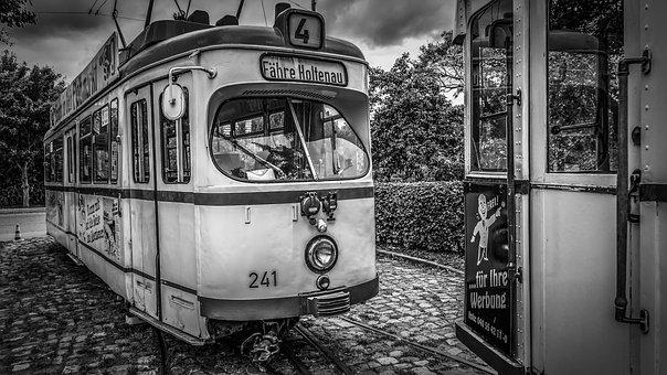 Tram, Road, Rails, Vintage, Retro, Old, Traffic, Dare