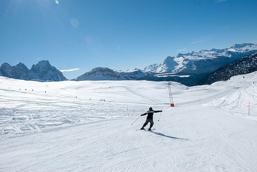Sci, Snow, Dolomites, Momo, Sun, Mountain, Challenge