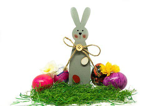 Easter, Decoration, Easter Eggs, Egg, Colored, Hare