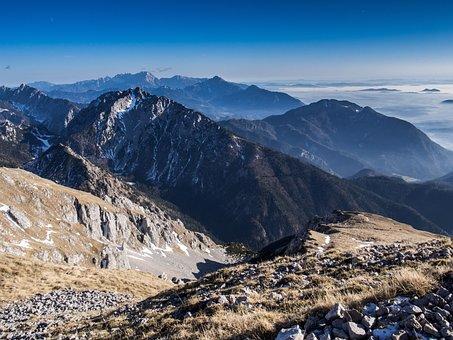 Mountains, View, Landscape, Nature, Figure, Rock