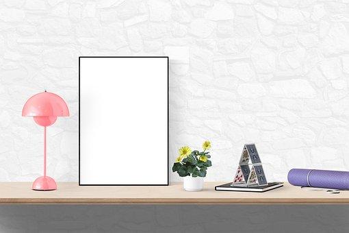 Poster, Frame, Lamp, Card, Mat, Plant