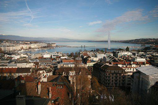 Geneva, Switzerland, Water, Lake, Sky, Landscape