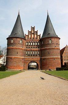 Lübeck, Mecklenburg, Holsten Gate, Landmark