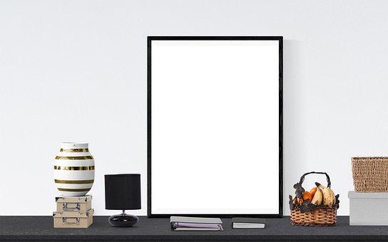 Poster, Frame, Fruits, Basket, Box, Book, Lamp