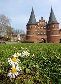 Lübeck, Mecklenburg, Germany, Holsten Gate, Landmark