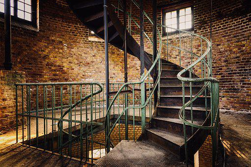 Stairs, Spiral Staircase, Tower, Spiral, Railing, Metal
