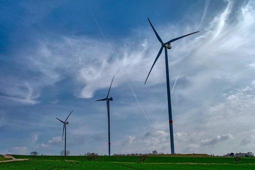 Pinwheel, Sky, Energy, Wind Power, Clouds