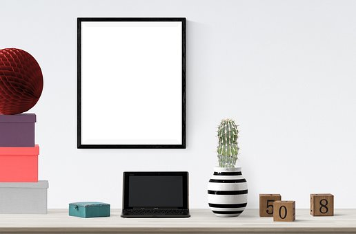 Poster, Frame, Plant, Boxes