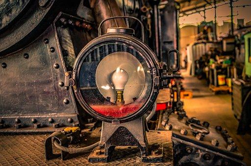 Lock, Lamp, Light, Spotlight, Light Bulb, Current