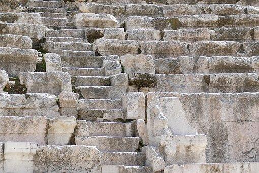 Jordan, Amman, Architecture, Theater, Roman, Antique