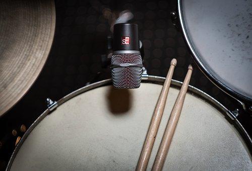 Drums, Tom, Snare, Microphone, Drum Microphones