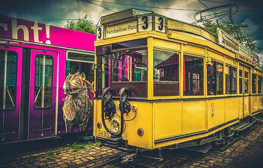 Tram, Train, Old, Rails, Track, Traffic, Transport