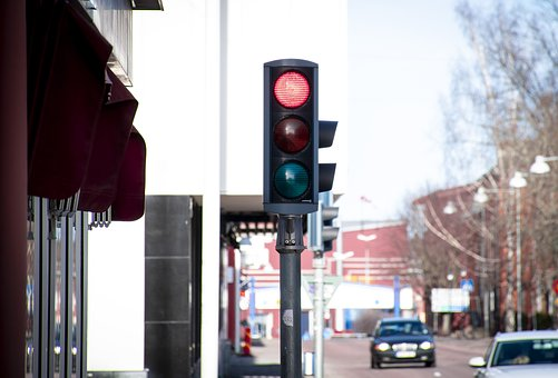 Traffic Lights, Red, Thinking About Staying, Traffic