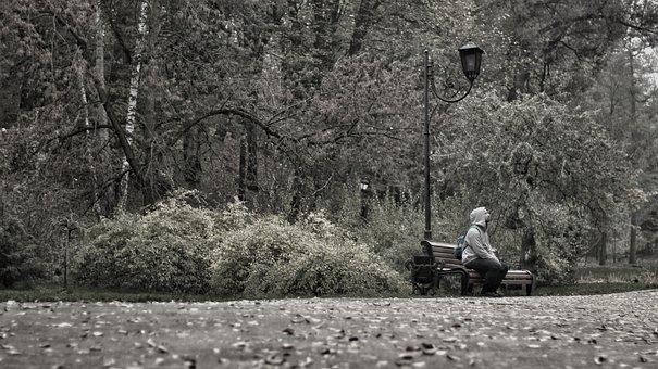 Ukraine, Park, Only, Lamp, Autumn, Closed, Human, Tree