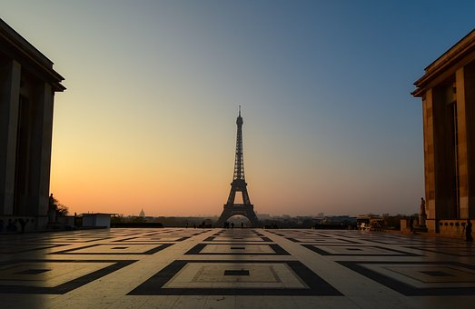 Eiffel Tower, Sunrise, Paris, Trocadéro, Architecture