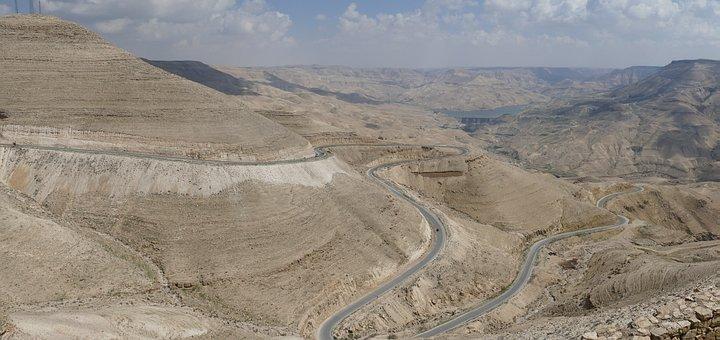 Jordan, Desert, Sand Stone, Canyon, Landscape, Wadi
