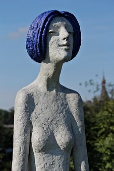 Statue, Woman, Abstract, A Group Of Young Tooth, Modern