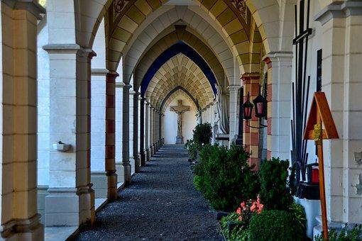 Cemetery, Arcades, Religion, Architecture, Ornament