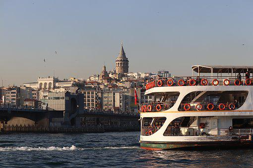 V, Bridge, Eminönü, Galata, Galat Bridge, Galata Tower