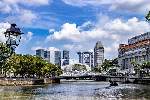Singapore, City, Architecture, Building, Skyline, Tower