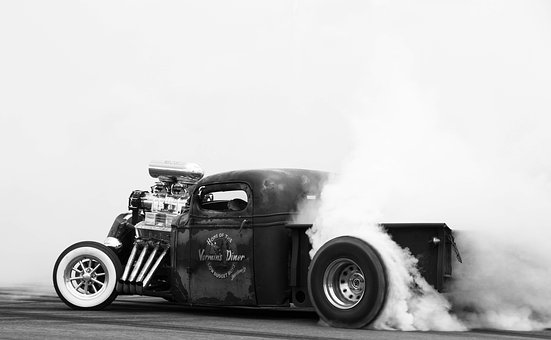 Car, Burnout, Hot Rod, Smoke, Exhaust, Drifting, Drift