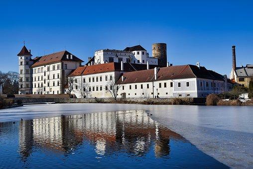 Jindřichův Hradec, Pond, Castle, Vajgar, Small, Czech