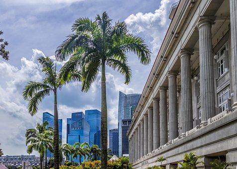 Singapore, City, Modern, Architecture, Metropolis