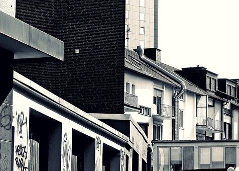 City, Backyard, Building, Architecture, Facade