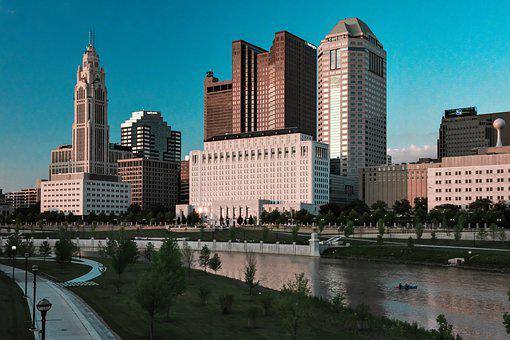 Columbus Ohio, Skyline, Cityscape, Urban, Downtown