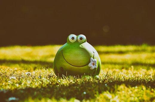 Frog, Figure, Meadow, Funny, Ceramic, Fun, Animal