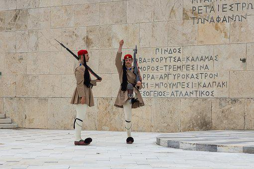 Athens, Soldiers, Greece, Costume, Tourism, Parliament