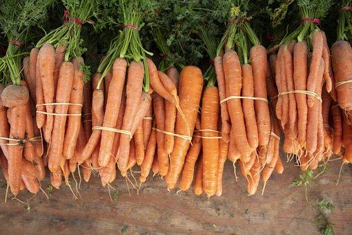 Carrot, Vegetable, Farmers, Market, Orange, Green