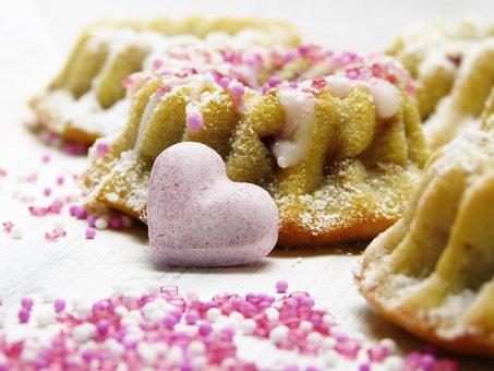 Cake, Guglhupf, Heart, Streusel, Sugar, Mother's Day