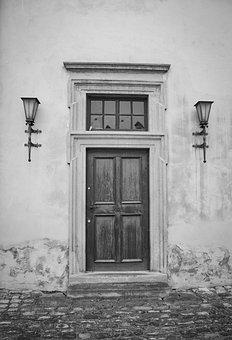 Door, Zeitz, Old, Input, House Entrance, Closed