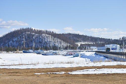 Russia, Siberia, Landscape, Lake, Winter, Snow, Ice