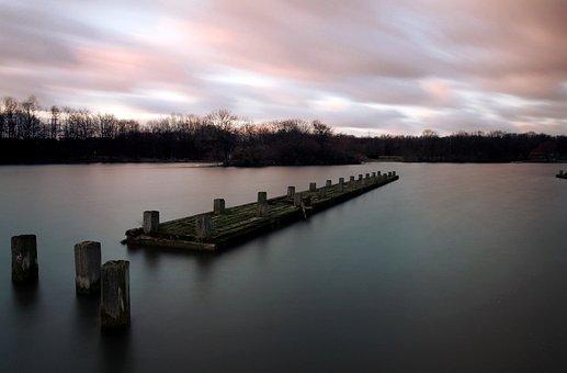 Bochum, ümminger Lake, Ruhr Area, Lake, Long Exposure
