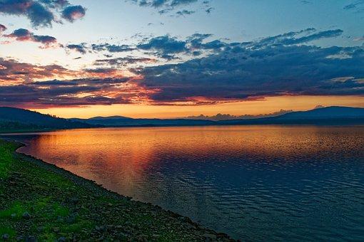 Sunset, Water, Lake, The Tank, Water Tank, Water Work