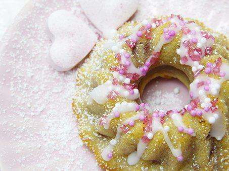 Cake, Guglhupf, Heart, Pink, Mother's Day