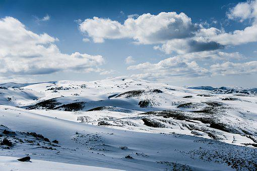 Winter, Mountain, Clouds, Sky, White, Mountains