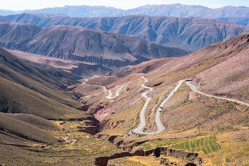 Mountains, Road, Corrosion, Fields, Hills, Lasdscape