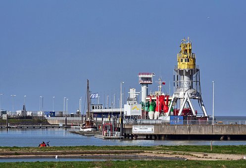 Seaport, North Sea, Cuxhaven, Tons, Buoys, Mole, Pier
