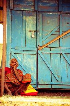 Thinking, Woman, India, Travel, Grandma, People