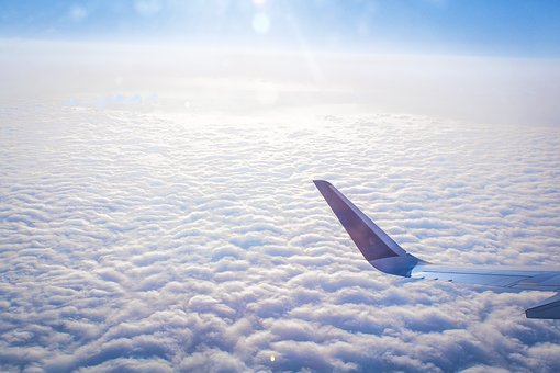 Plane, Flight, Travel, Soft, White, Blue, Airplane, Sky